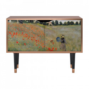 Dulapior multicolor din MDF si lemn The Poppy Field Near Argenteuil By Claude Monet Clara Furny