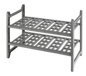 Etajera extensibila gri din aluminiu si polipropilena 39 cm Kitchen Shelf Wenko