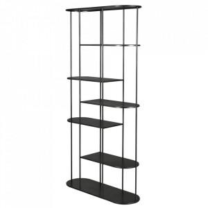 Etajera neagra din metal 180 cm Design Zago