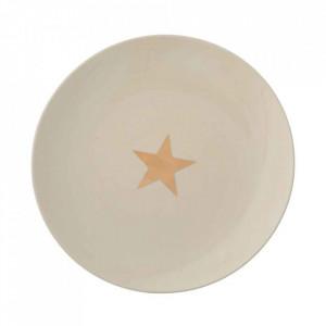 Farfurie alba din ceramica 25 cm Star Bloomingville