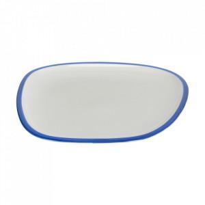 Farfurie intinsa alba/albastra din portelan 27x29 cm Odalin Kave Home