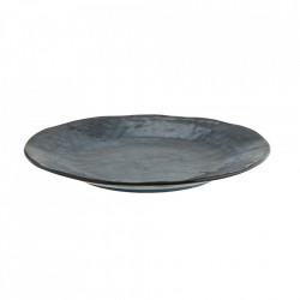 Farfurie intinsa maro/albastra din ceramica 28 cm Fiho Madam Stoltz