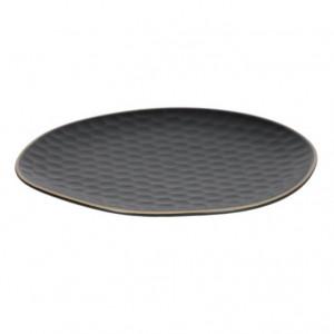 Farfurie intinsa neagra din ceramica 25x27 cm Manami Kave Home