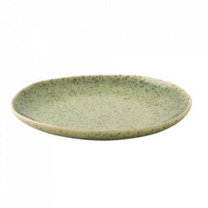 Farfurie intinsa verde din ceramica 22,5 cm Kiwi Palmer