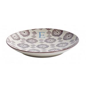 Farfurie pentru desert multicolora din ceramica 20 cm E Letter Nordal
