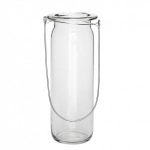 Felinar transparent din sticla 25 cm Murphy Hubsch