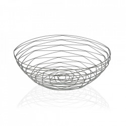 Fructiera argintie din metal Chrome Oval Basket Versa Home