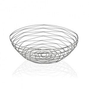 Fructiera argintie din metal Chrome Oval Basket Versa Home