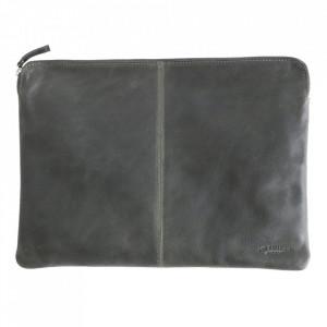 Geanta verde din piele de bivol pentru laptop 28x38 cm Camel Raw Materials