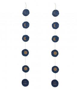 Ghirlanda decorativa albastra din hartie Astrea Kave Home