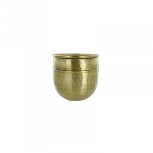 Ghiveci auriu din aluminiu 13 cm Hiezabel Lifestyle Home Collection