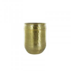 Ghiveci auriu din aluminiu 23 cm Oyibo Lifestyle Home Collection