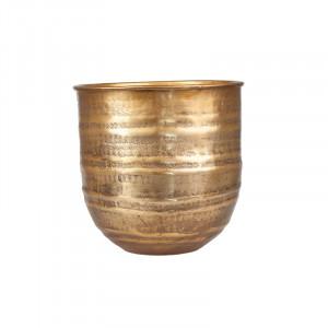 Ghiveci maro alama din aluminiu 25 cm Adisa Lifestyle Home Collection