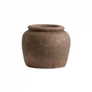 Ghiveci maro din ciment 16 cm Cemu Nordal