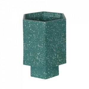 Ghiveci verde din terrazzo 17 cm Muzz Zago