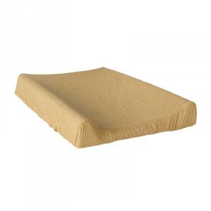 Husa galben sofran/bej din bumbac pentru salteaua de infasat 50x70 cm Alle Quax