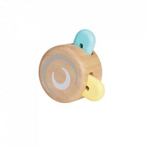 Jucarie multicolora din lemn Peek a Boo Roller Plan Toys