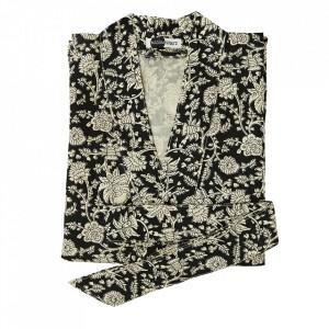 Kimono alb/negru din bumbac Kioto Madam Stoltz