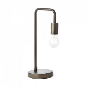 Lampa birou neagra antichizata din metal 40 cm Fila Brilliant