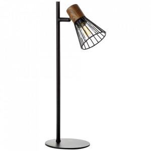 Lampa birou neagra/maro din metal 41 cm Manama Brilliant