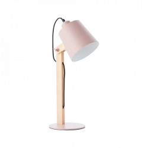 Lampa birou roz/maro din metal si lemn 51,5 cm Swivel Brilliant