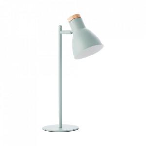 Lampa birou verde din lemn si metal 47 cm Venea Brilliant