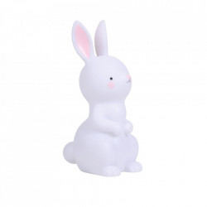 Lampa de veghe alba din PVC cu LED 26 cm Bunny A Little Lovely Company