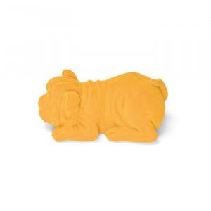 Lampa de veghe galbena din rasina Devilisch Bulldog Light Yellow Bold Monkey