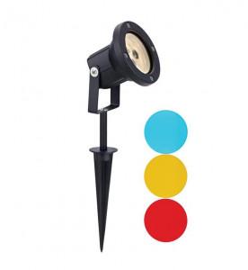 Lampa neagra din aluminiu cu 3 LED-uri 34 cm pentru gradina Garden Spotlight Markslojd