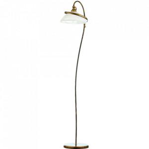 Lampadar alb/auriu antic din sticla si metal 173 cm Retro II Aldex