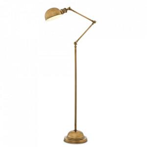 Lampadar auriu din aluminiu si inox 140 cm Soho Eichholtz