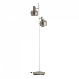 Lampadar din metal cu 2 becuri 140 cm BF 20 Double Brushed Satin Frandsen Lighting