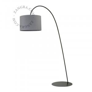 Lampadar gri din metal 205 cm Hall Zangra