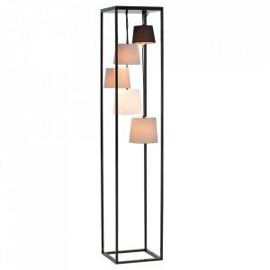 Lampadar multicolor din in si metal cu 5 becuri 180 cm Levels Invicta Interior