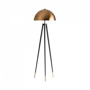 Lampadar negru/auriu din alama 162 cm Brett Vical Home