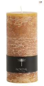 Lumanare maro din parafina 15 cm Amber Candle Medium Nordal