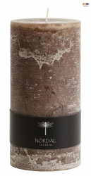 Lumanare maro din parafina 20 cm Brown Candle High Nordal