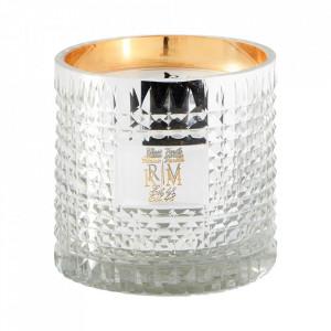 Lumanare parfumata cu suport argintiu din sticla 10 cm Vanilla Riviera Maison