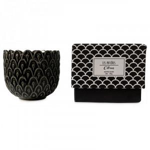 Lumanare parfumata cu suport gri din ceramica 7 cm Sanna Opjet Paris