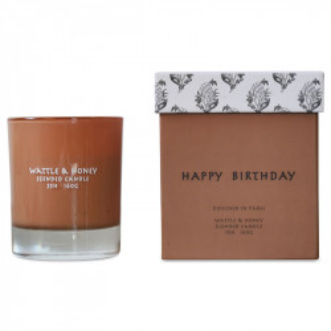 Lumanare parfumata cu suport maro din sticla 9 cm Wiktoria Opjet Paris