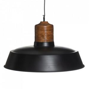 Lustra maro/neagra din lemn si fier Sandberg L Denzzo