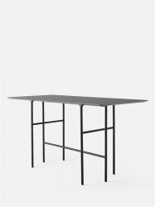Masa bar din otel si linoleum 90x200 cm Snaregade Rectangular Black/Charcoal Menu