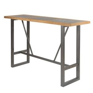 Masa bar maro/neagra din lemn de pin si metal 175 cm Sven Zago