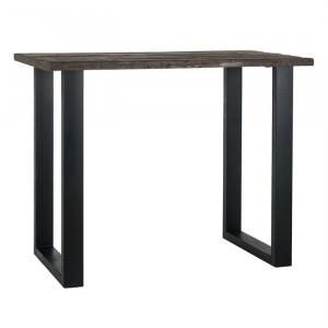 Masa bar maro/neagra din lemn si fier 80x140 cm Raffles Richmond Interiors