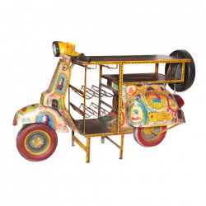 Masa bar multicolora din lemn si metal 66x170 cm Roller Sit Moebel
