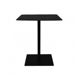 Masa bar patrata neagra din otel si lemn 70x70 cm Braza Square Dutchbone