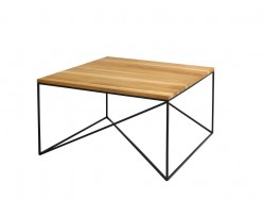 Masa cafea din lemn si metal 80x80 cm Memo Custom Form