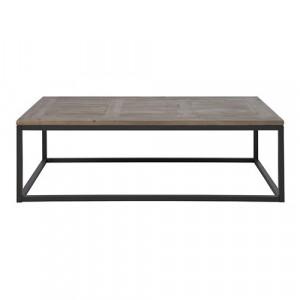 Masa de cafea neagra/maro din lemn si metal 70x130 cm Rockwood Actona Company