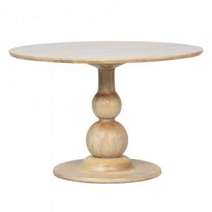 Masa dining crem din lemn de mango 120 cm Blanco Be Pure Home