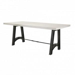 Masa dining din metal cu blat ciment 190x90 cm Graphik Zago